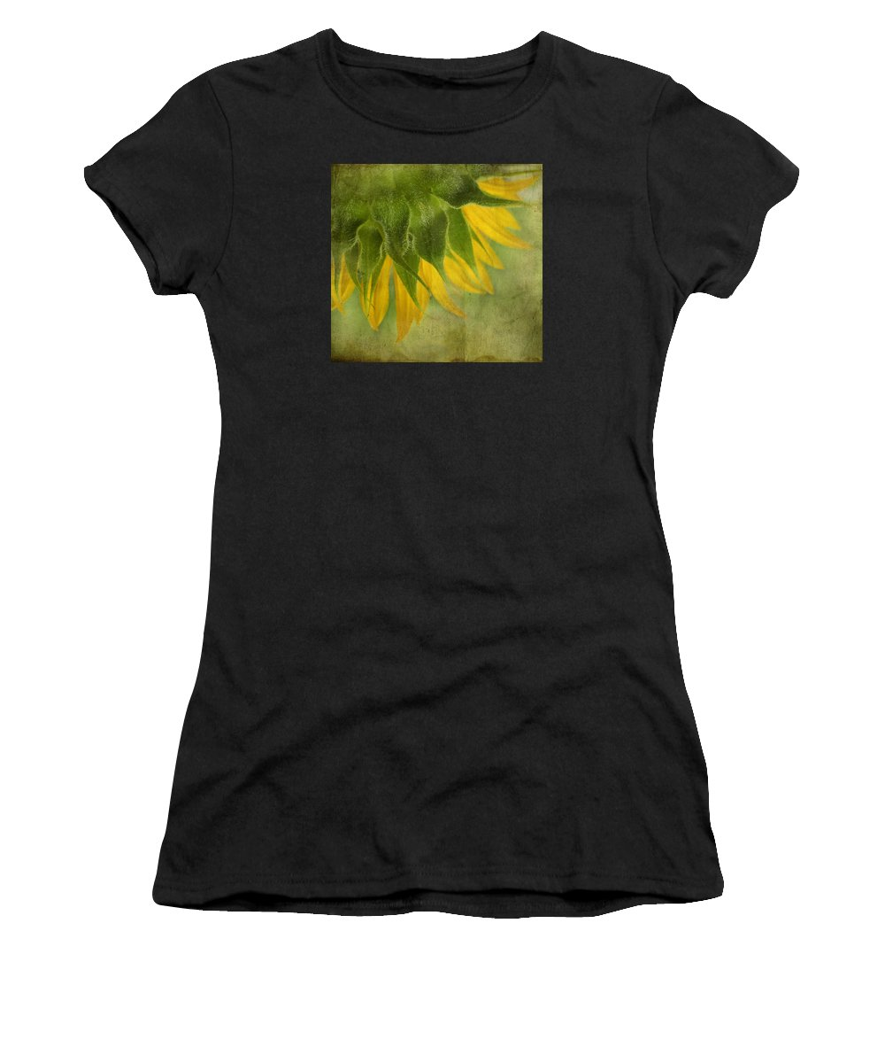 Sunflower Women's T-Shirt (Athletic Fit) featuring the photograph Sunflower by Ivelina G