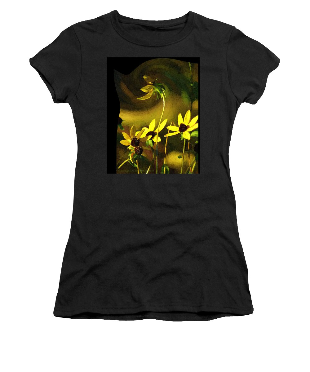 Sunlight Explosion Women's T-Shirt (Athletic Fit) featuring the painting Sunlight Explosion by Michael DArienzo
