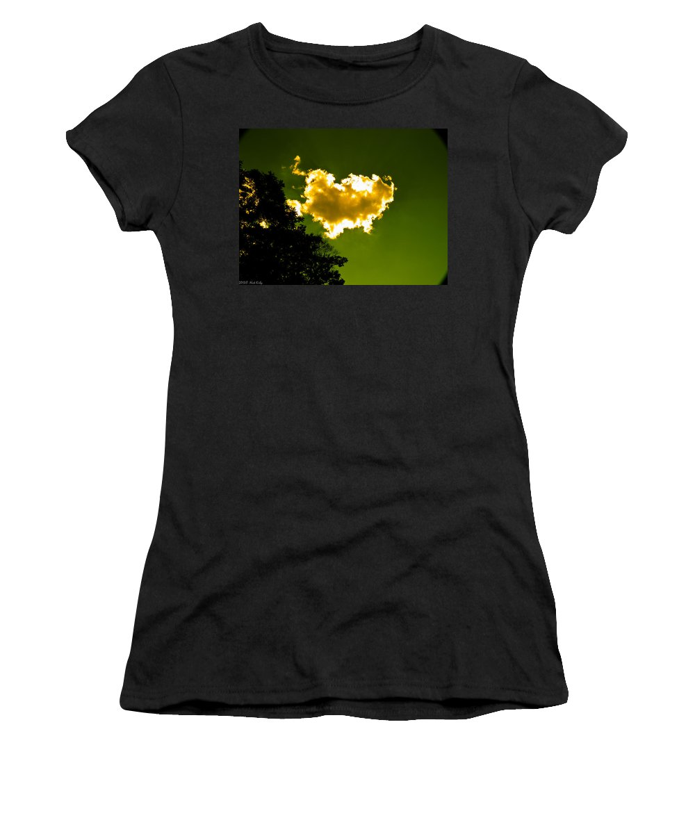 Yellow Women's T-Shirt featuring the photograph Sunlit Yellow Cloud by Nick Kirby