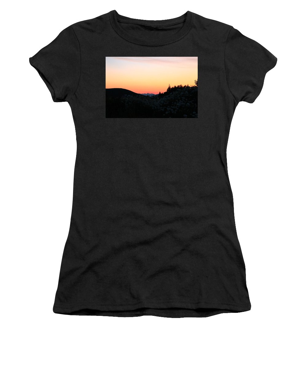 Jackson Hole Women's T-Shirt featuring the photograph Sunrise And Daisies by Catie Canetti