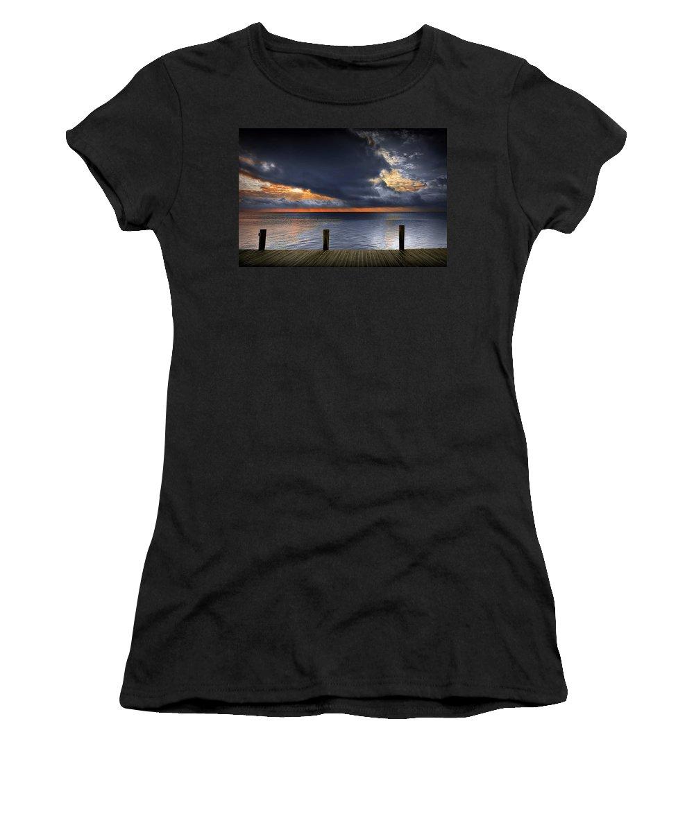 Art Women's T-Shirt featuring the photograph Sunrise On Key Islamorada In The Florida Keys by Randall Nyhof