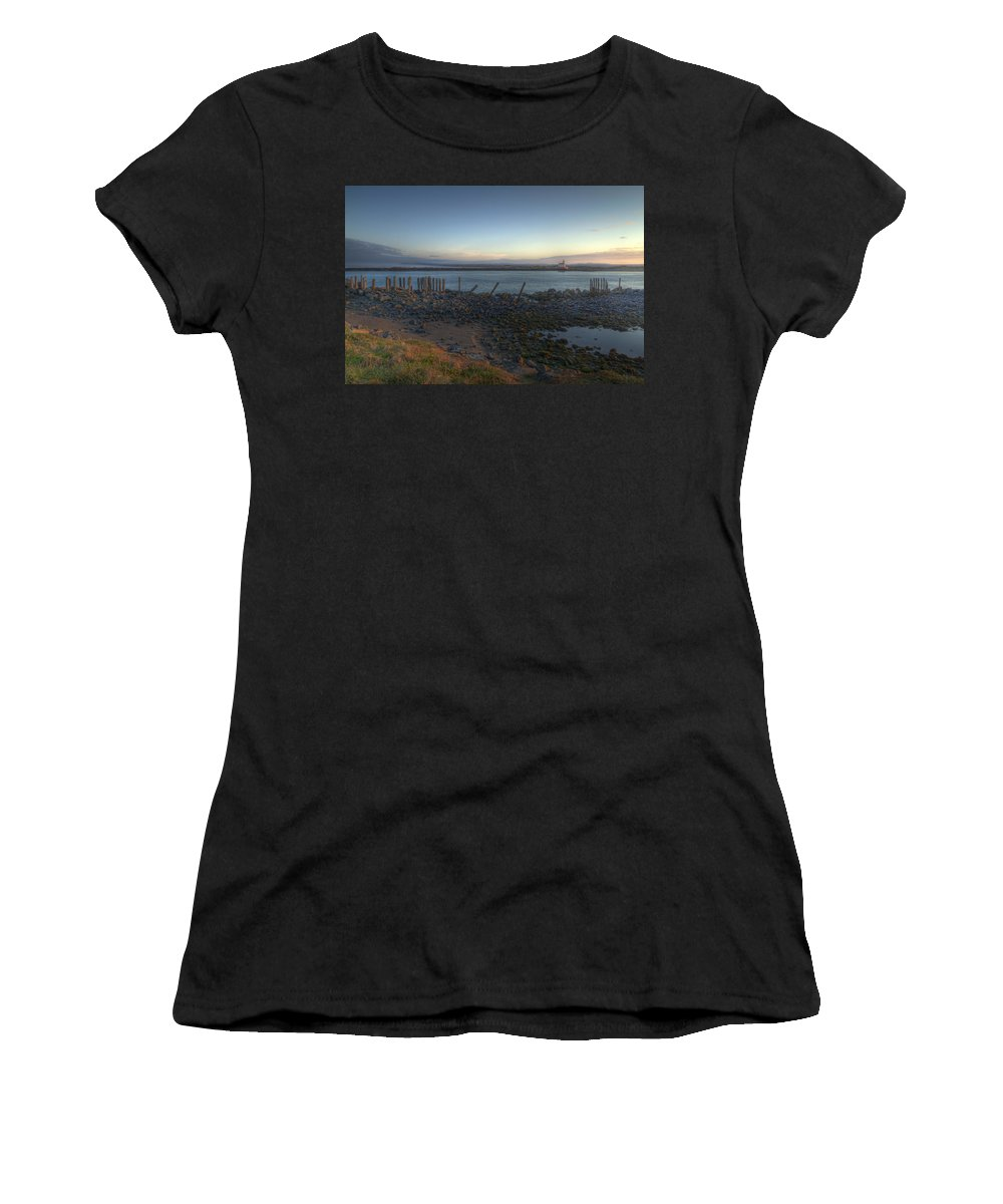 Bandon Oregon Women's T-Shirt featuring the photograph Sunrise On The Coquille River by Lindley Johnson