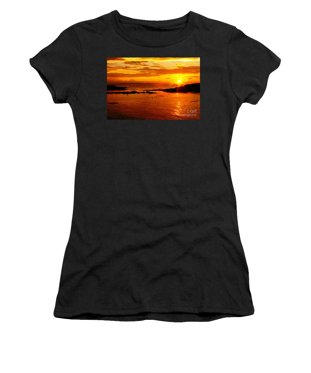 Sunset Prints Women's T-Shirt featuring the photograph Sunset At Bic by Aimelle