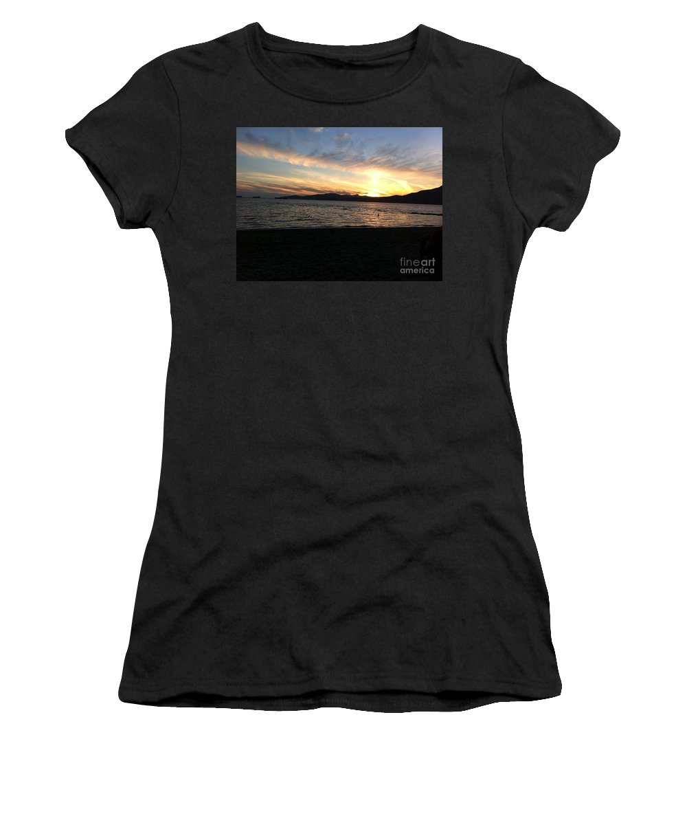 Sunset Women's T-Shirt featuring the photograph Sunset by Stephanie Bland