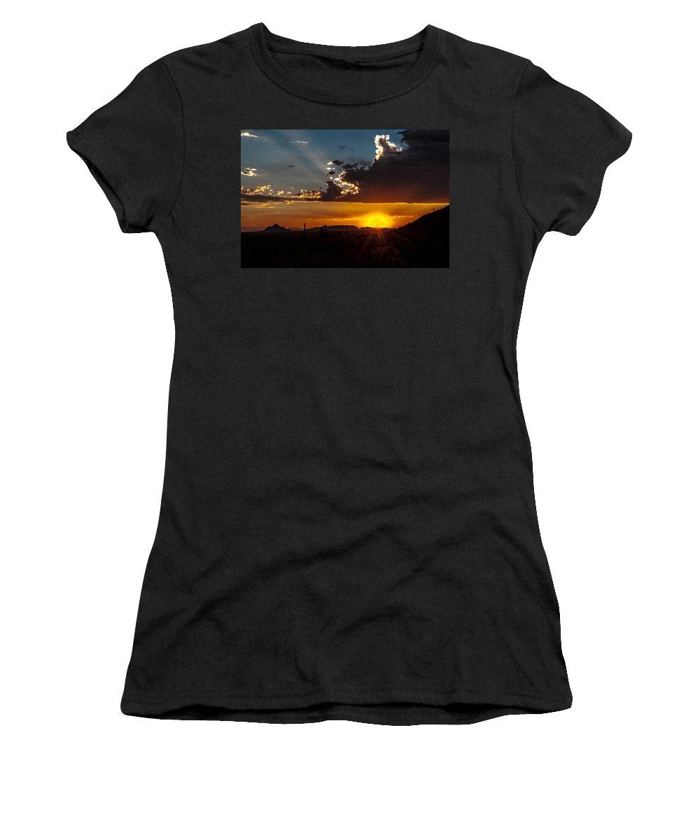 Sunset Women's T-Shirt featuring the photograph Sunset by Tam Ryan