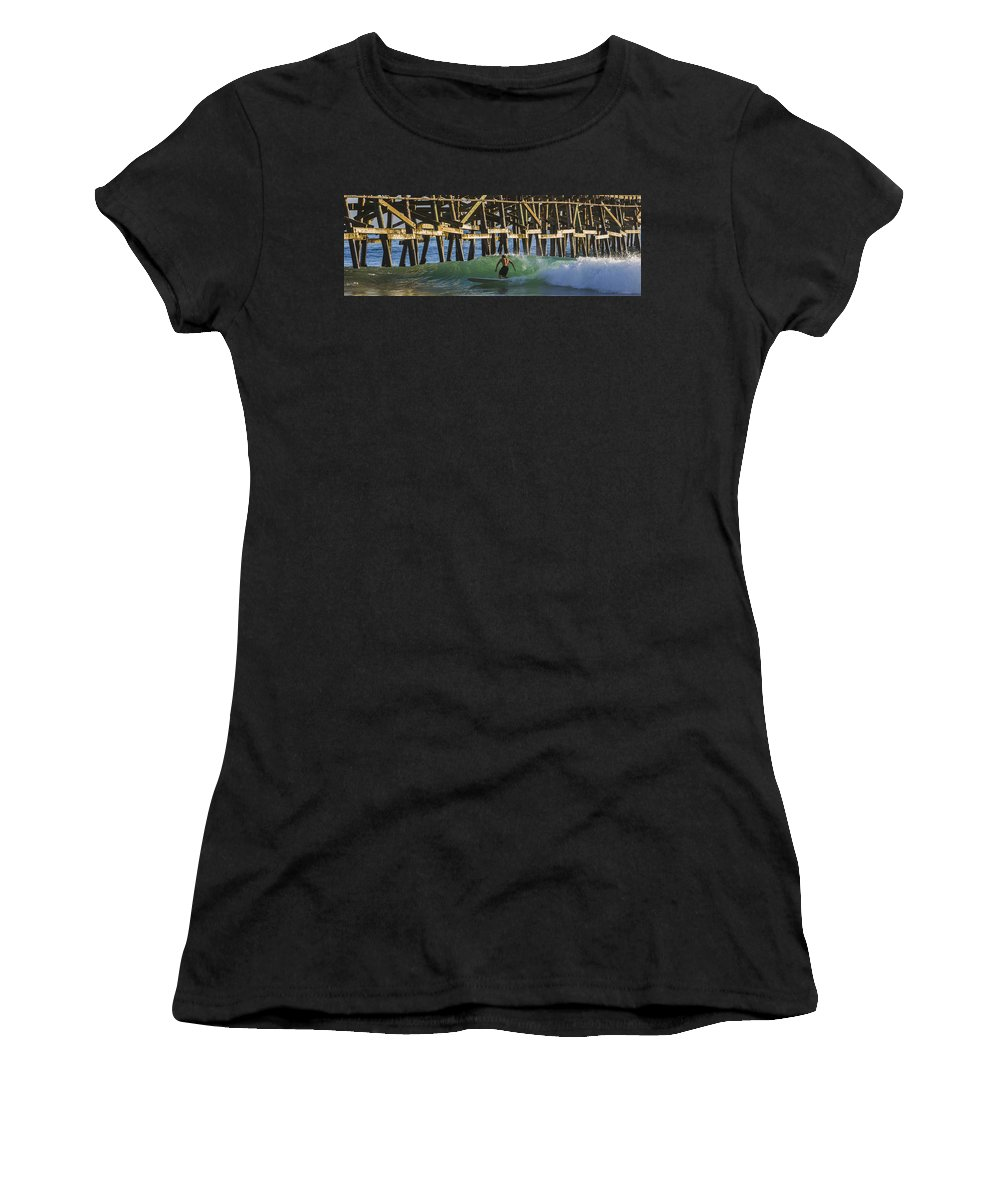 Surfer Women's T-Shirt (Athletic Fit) featuring the photograph Surfer Dude 3 by Scott Campbell