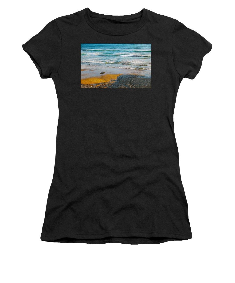 Beach Women's T-Shirt featuring the photograph Surf's Up by Mark Lemon