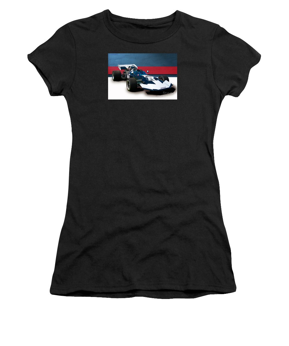 Surtees Women's T-Shirt (Athletic Fit) featuring the photograph Surtees Ts8 F5000 by Stuart Row