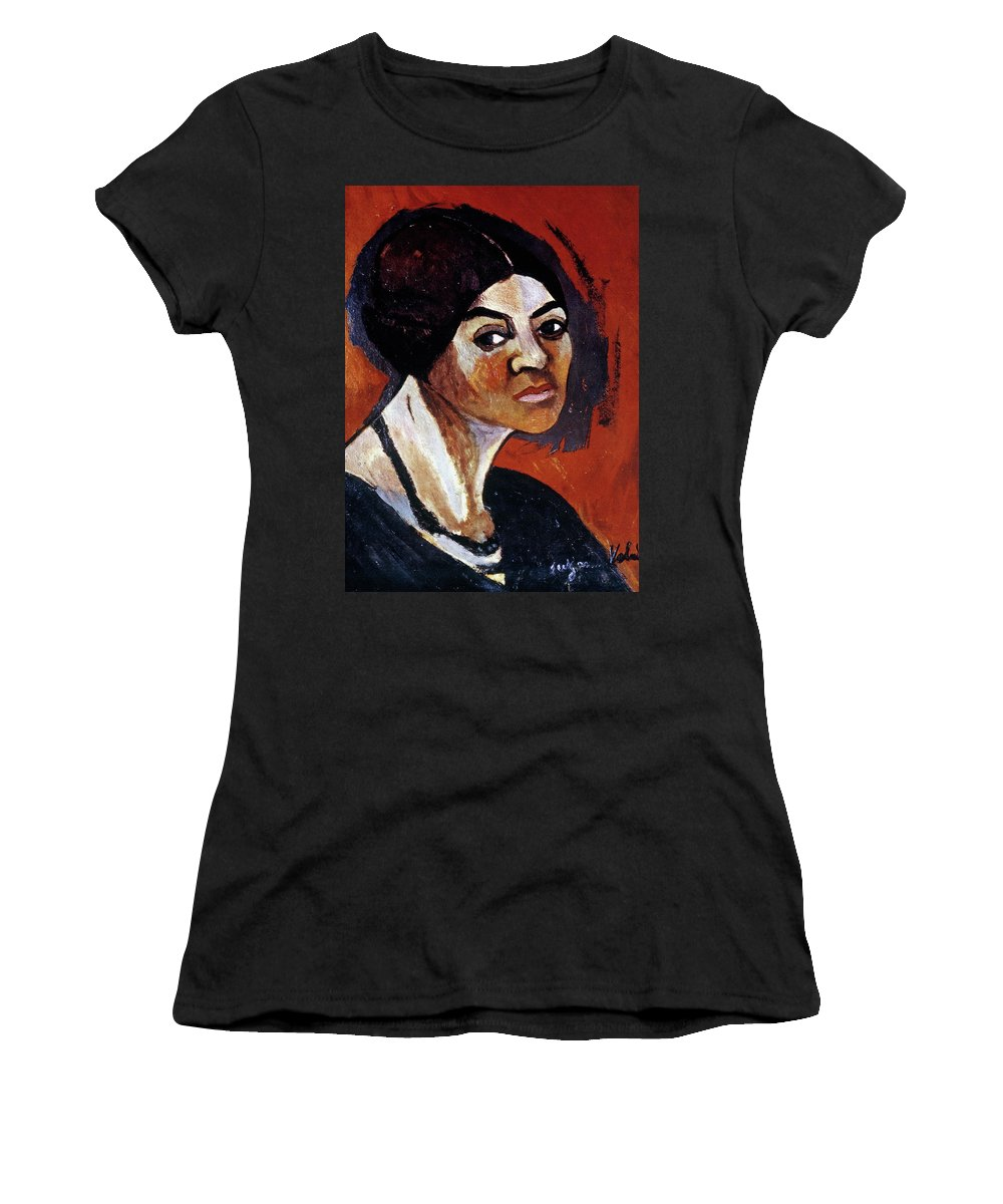 1916 Women's T-Shirt (Athletic Fit) featuring the painting Suzanne Valadon (1865-1938) by Granger