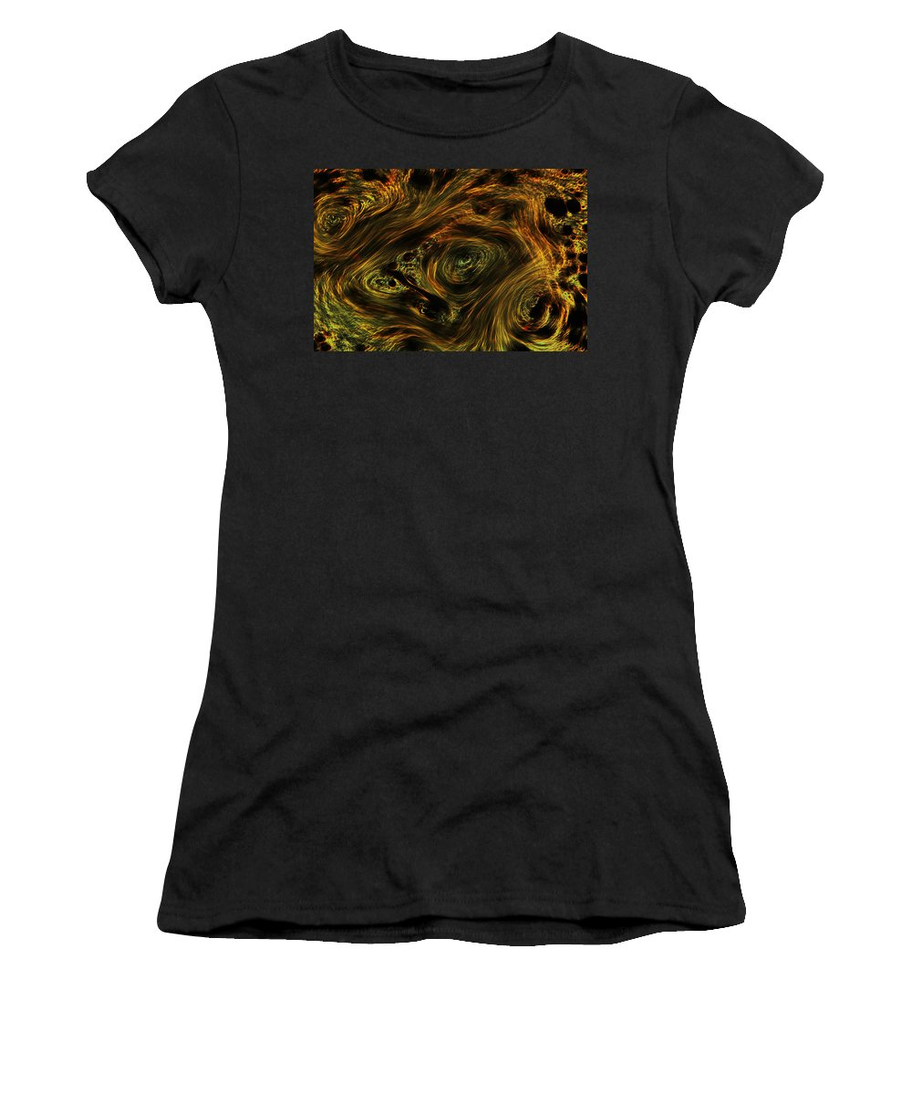 Abstract Women's T-Shirt (Athletic Fit) featuring the photograph Swirling 2 by Robert Woodward