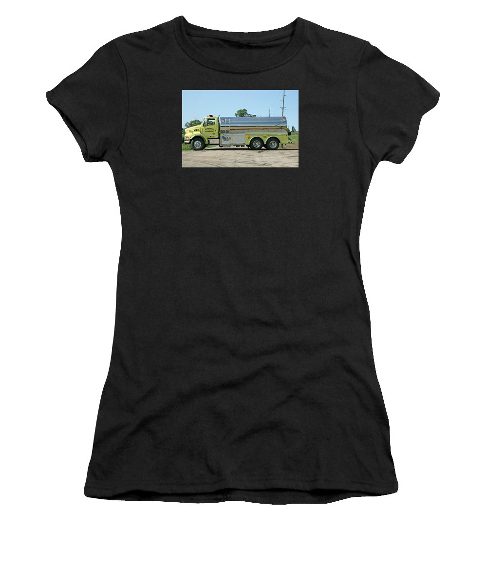 Fire Service Women's T-Shirt featuring the photograph T-6 Monticello by Susan McMenamin
