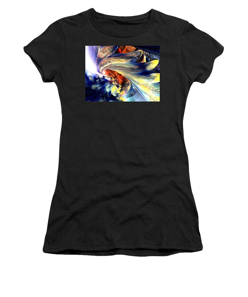 3d Women's T-Shirt featuring the digital art Tailed Beast Abstract by Alexander Butler