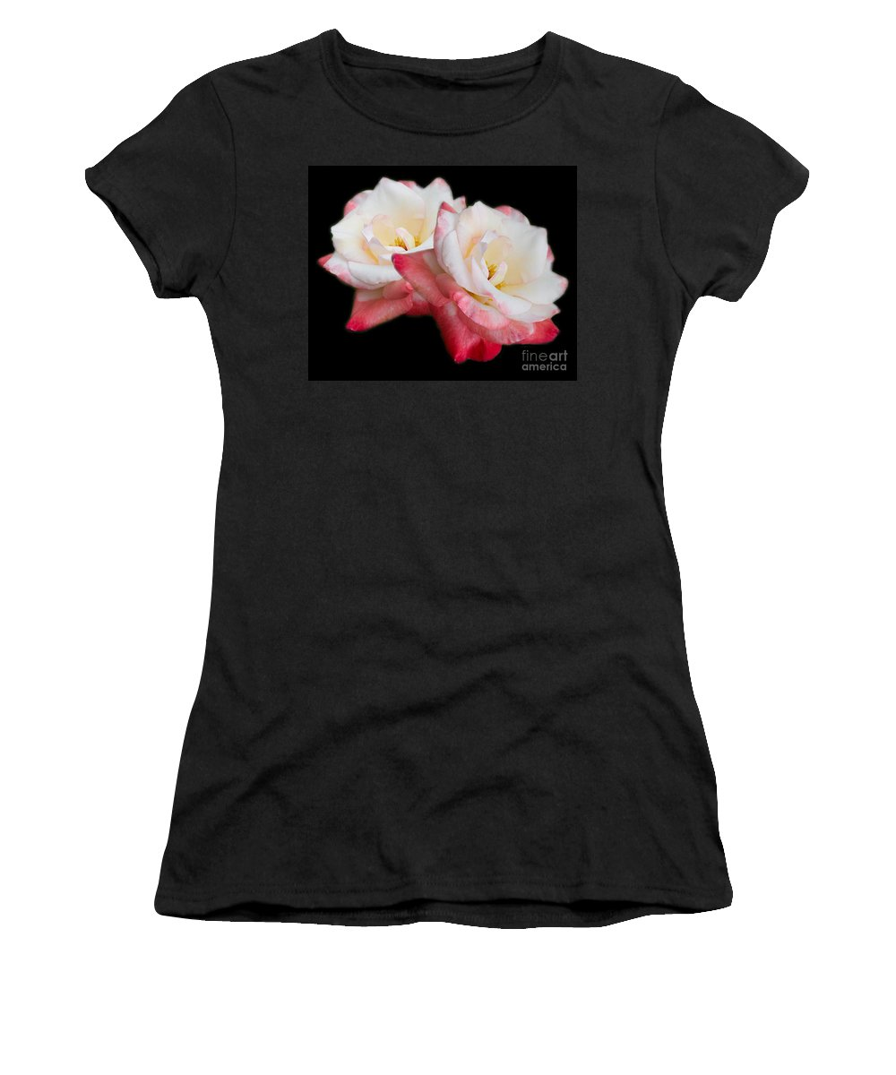 Rose Women's T-Shirt (Athletic Fit) featuring the photograph Take Two by TN Fairey