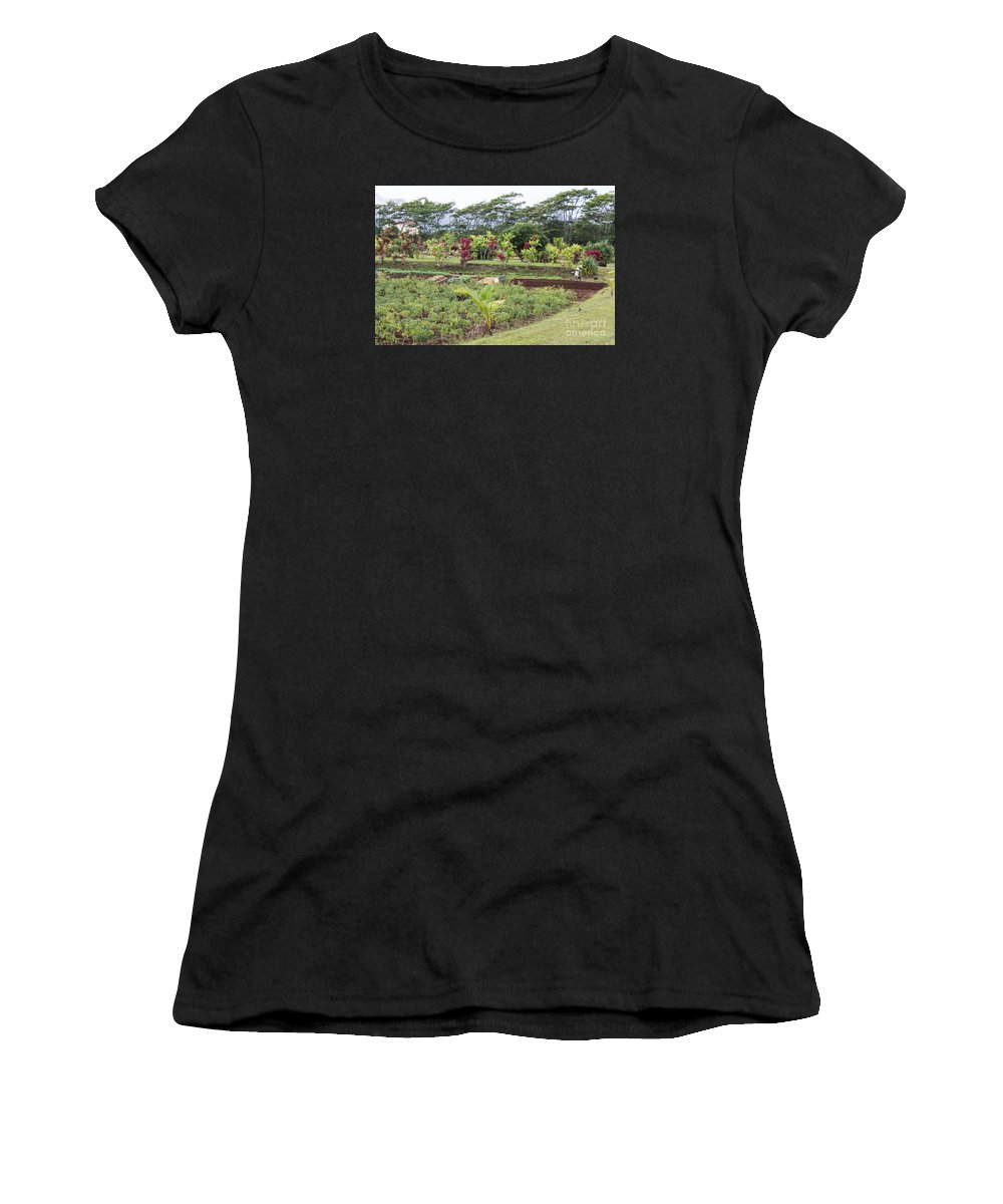 Kilohana Plantation Women's T-Shirt (Athletic Fit) featuring the photograph Tending The Land by Suzanne Luft