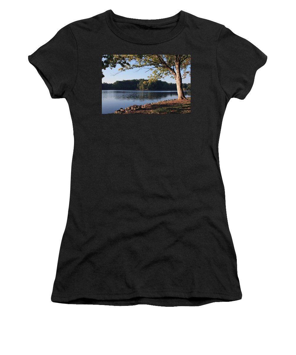 Tennessee River Women's T-Shirt featuring the photograph Tennessee River In Knoxville by Melinda Fawver
