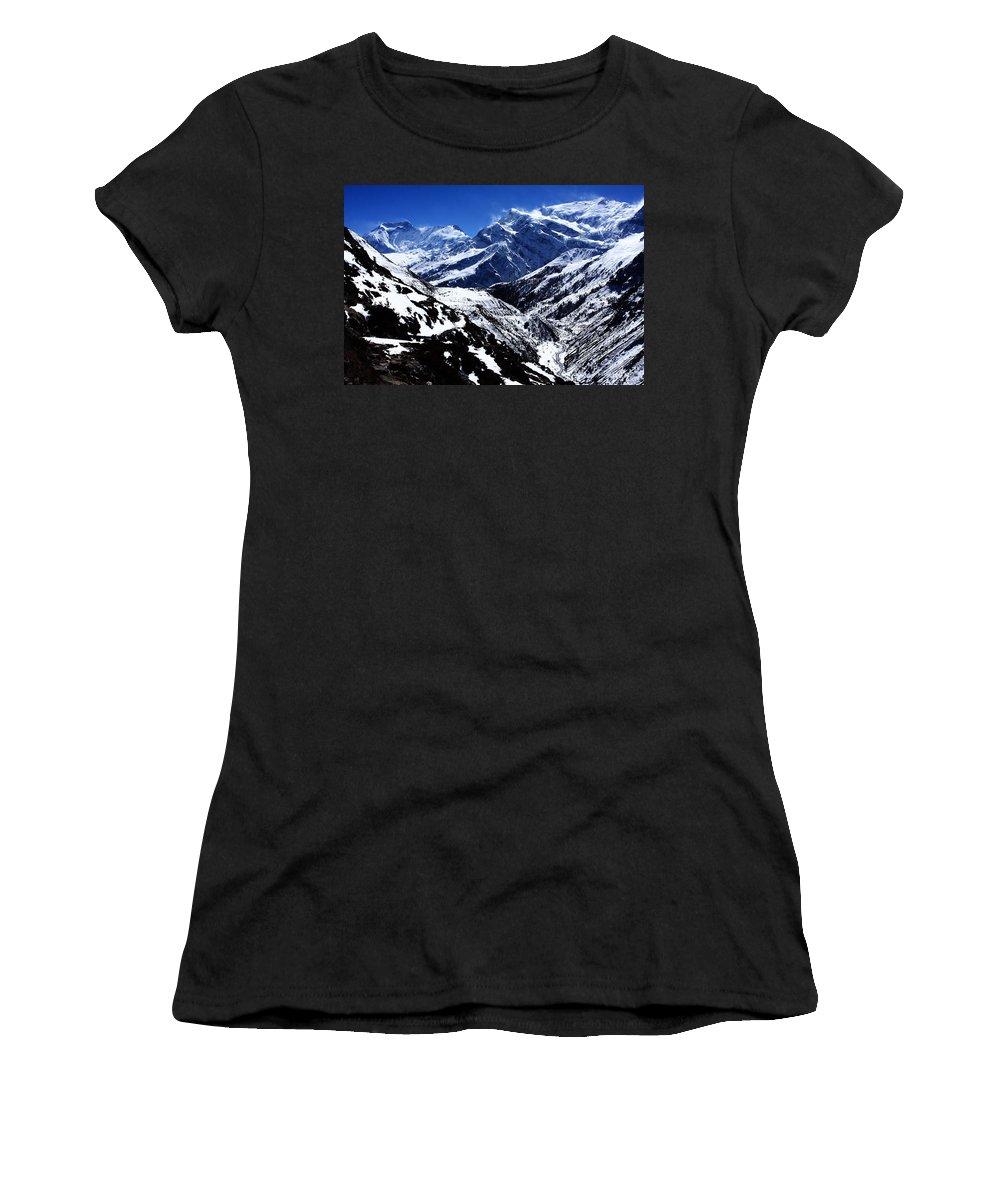Mountains Women's T-Shirt featuring the photograph The Annapurna Circuit - The Himalayas by Aidan Moran