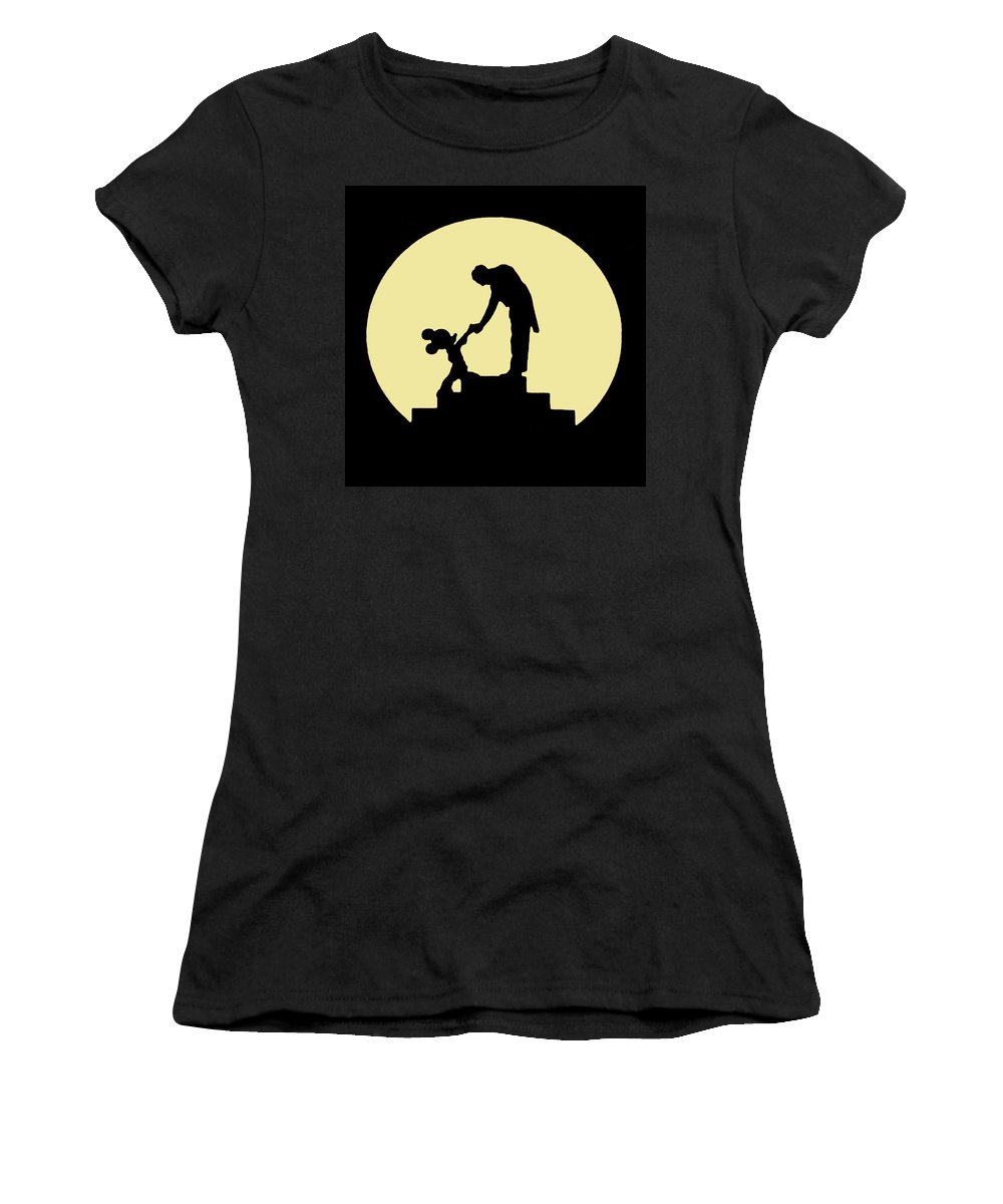 Women's T-Shirt (Athletic Fit) featuring the painting Thank You by Paul Van Scott