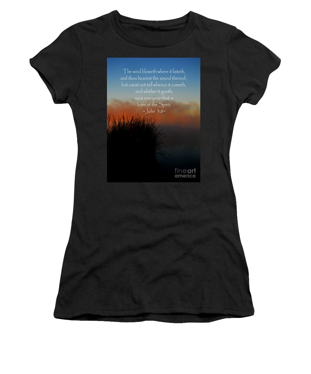 Jesus Christ Women's T-Shirt featuring the photograph The Bible John Three Eight by Ron Tackett