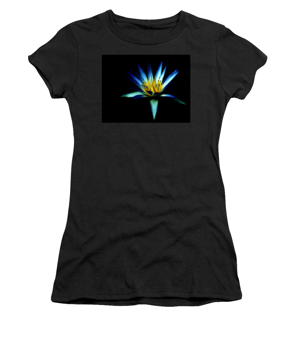 Blue Women's T-Shirt featuring the photograph The Blue Lotus Of Egypt by Wayne Sherriff