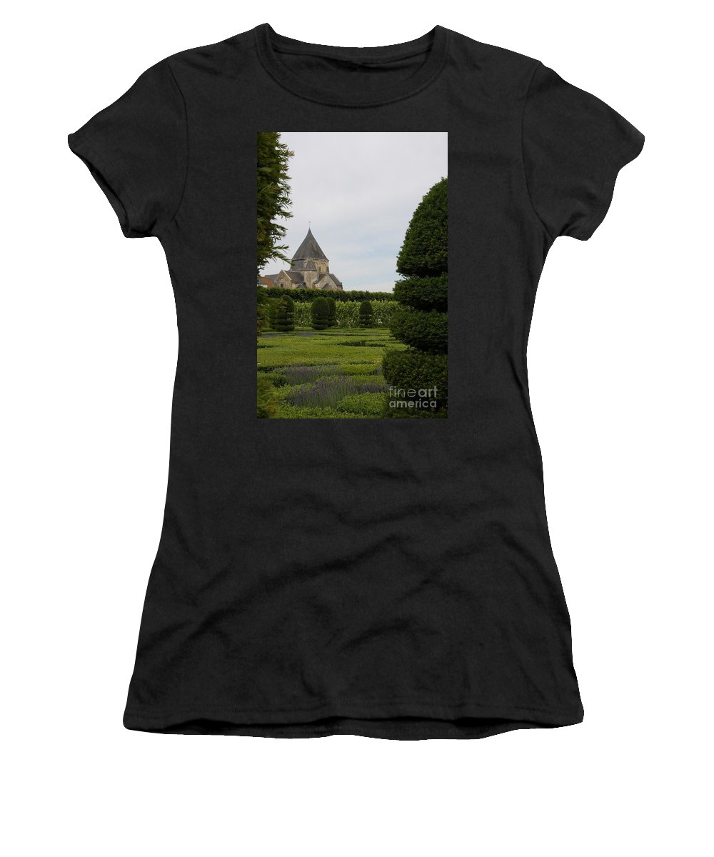 Boxwood Women's T-Shirt (Athletic Fit) featuring the photograph The Boxwood Garden - Villandry by Christiane Schulze Art And Photography