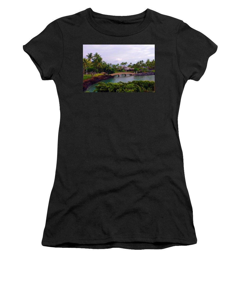 Hawaii Women's T-Shirt featuring the photograph The Bridge by John Dauer