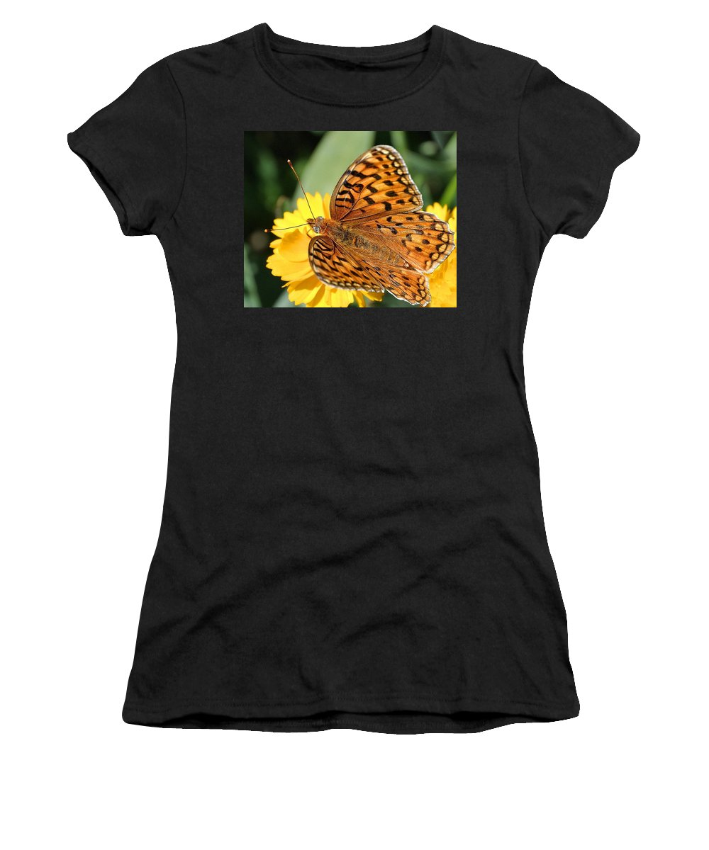 Butterfly Women's T-Shirt featuring the photograph The Butterfly Effect by Image Takers Photography LLC - Laura Morgan