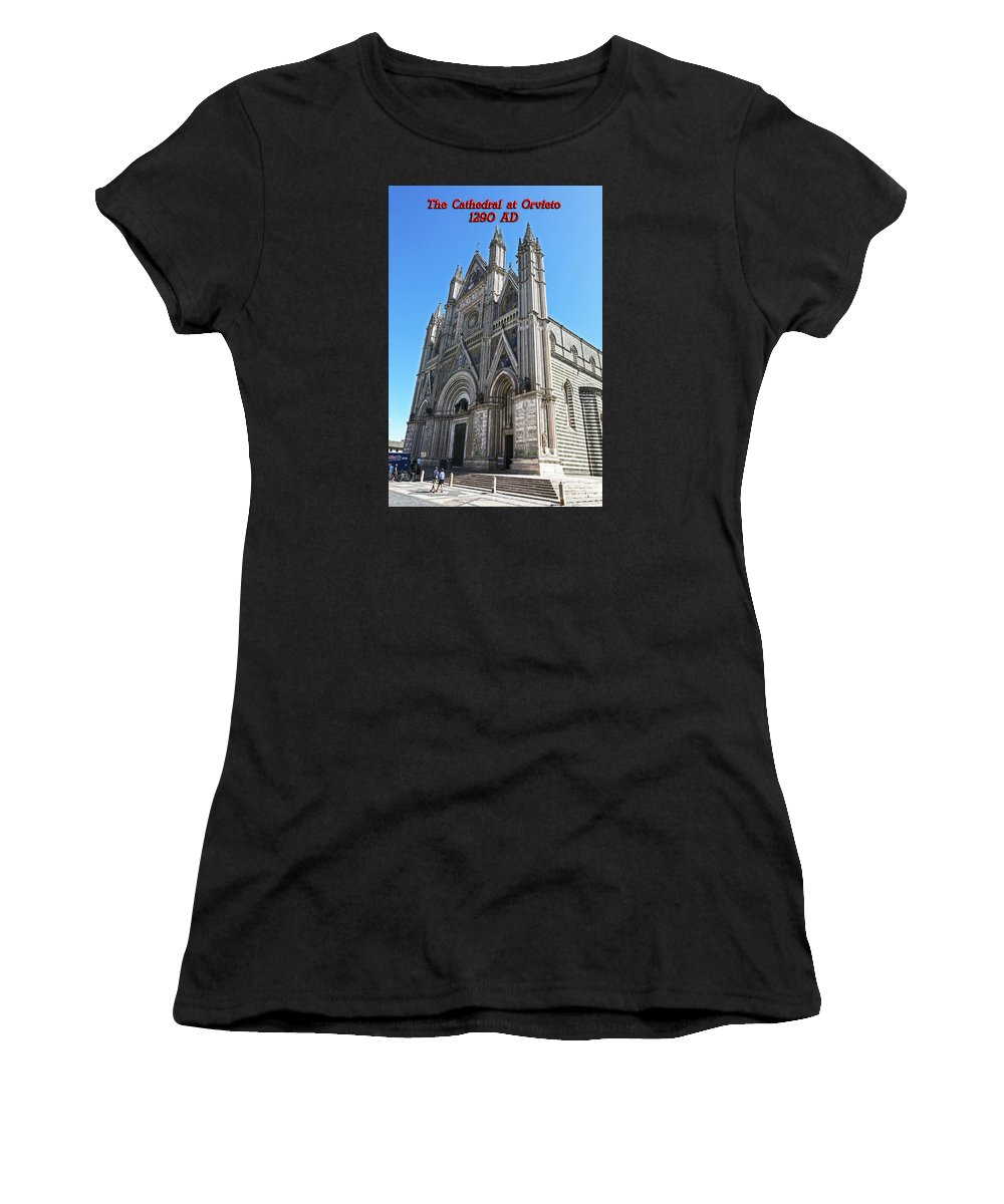 Italy 2014 Women's T-Shirt (Athletic Fit) featuring the photograph The Cathedral At Orvieto by Eric Swan
