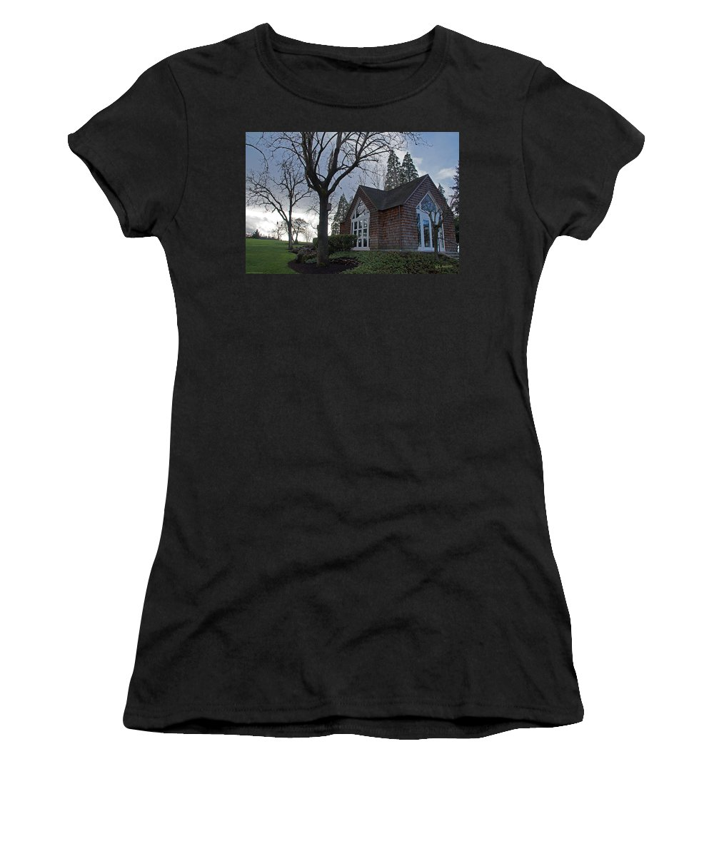 Chapel Women's T-Shirt featuring the photograph The Chapel At Eagle Point National Cemetery by Mick Anderson