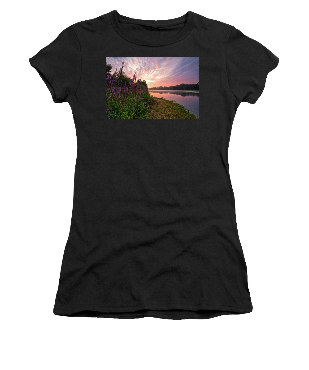 Landscapes Women's T-Shirt featuring the photograph The Color Purple by Davorin Mance