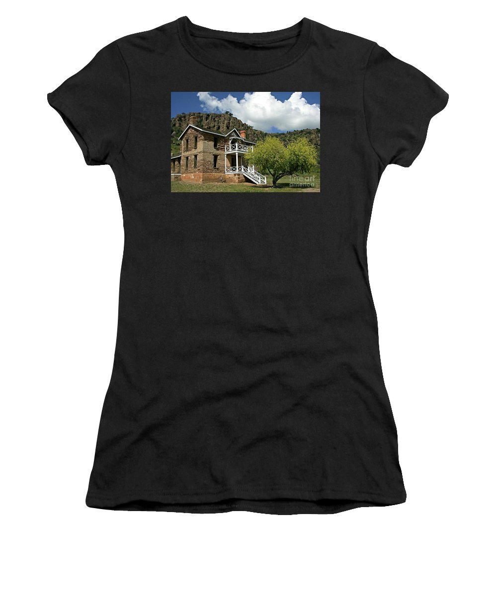 Don Women's T-Shirt (Athletic Fit) featuring the painting The Commandants Quarters by Don Wright