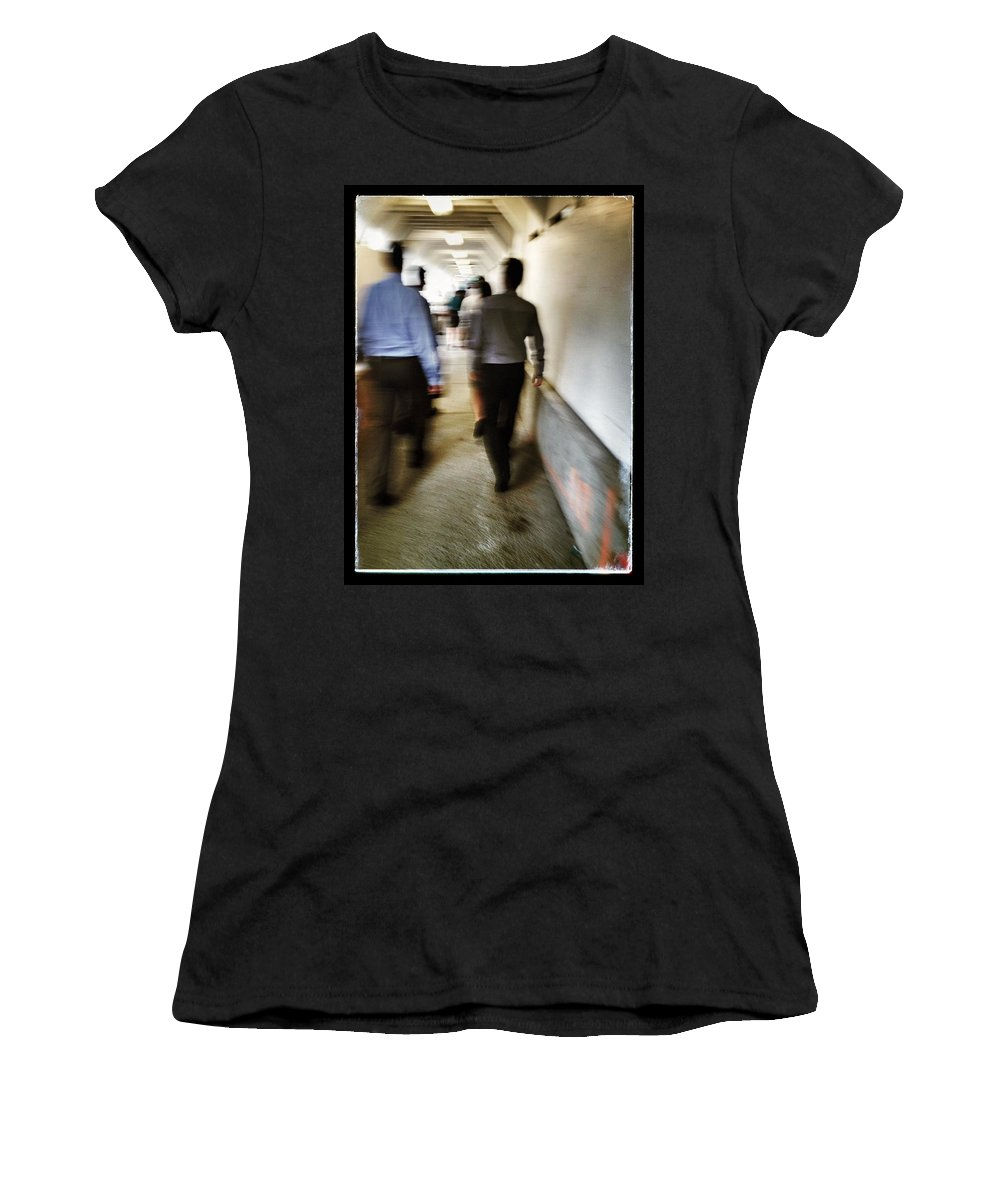 Street Women's T-Shirt featuring the photograph The Corrosion Of Corporate  by The Artist Project