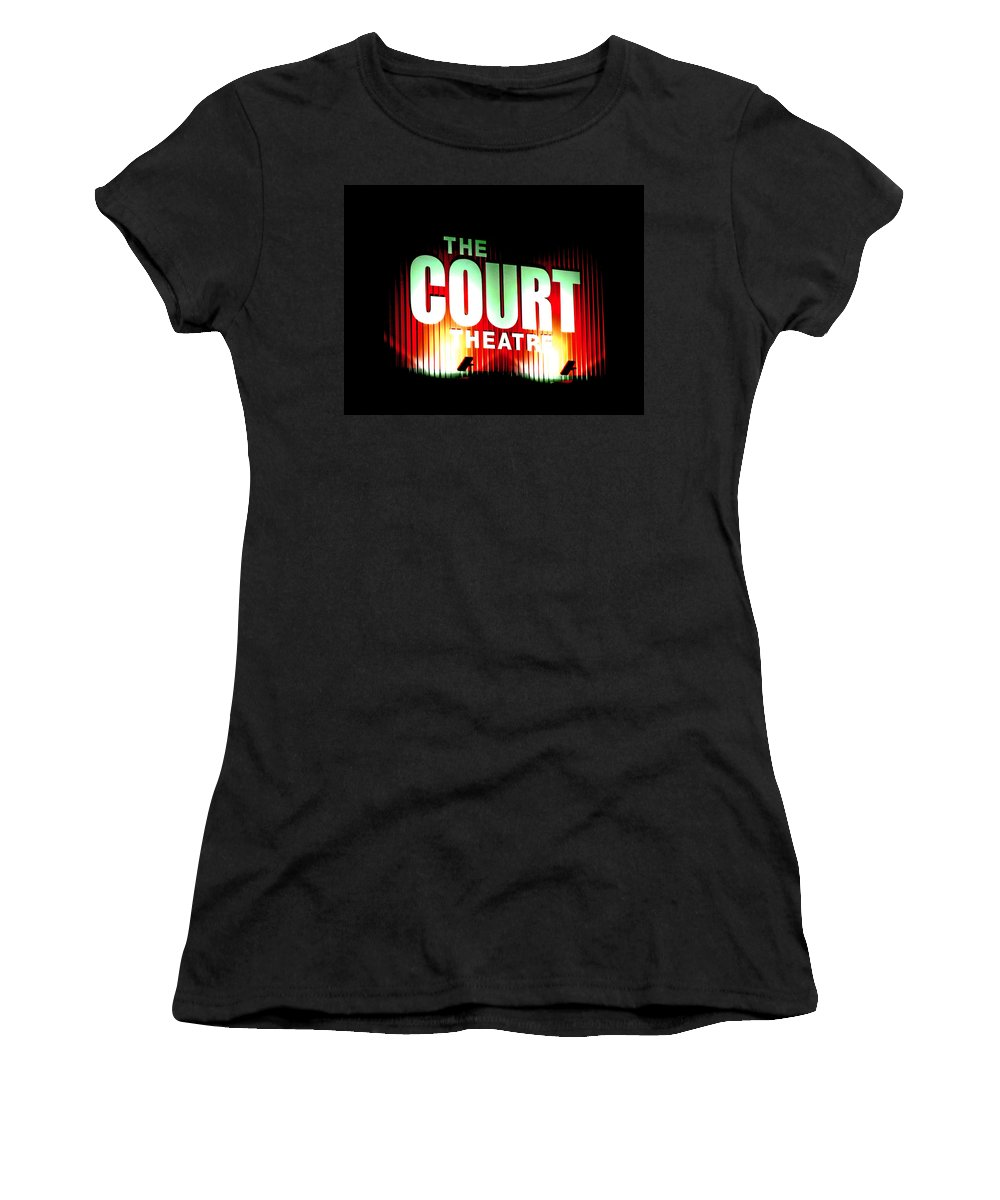 Court Women's T-Shirt (Athletic Fit) featuring the digital art The Court Theatre by Steve Taylor
