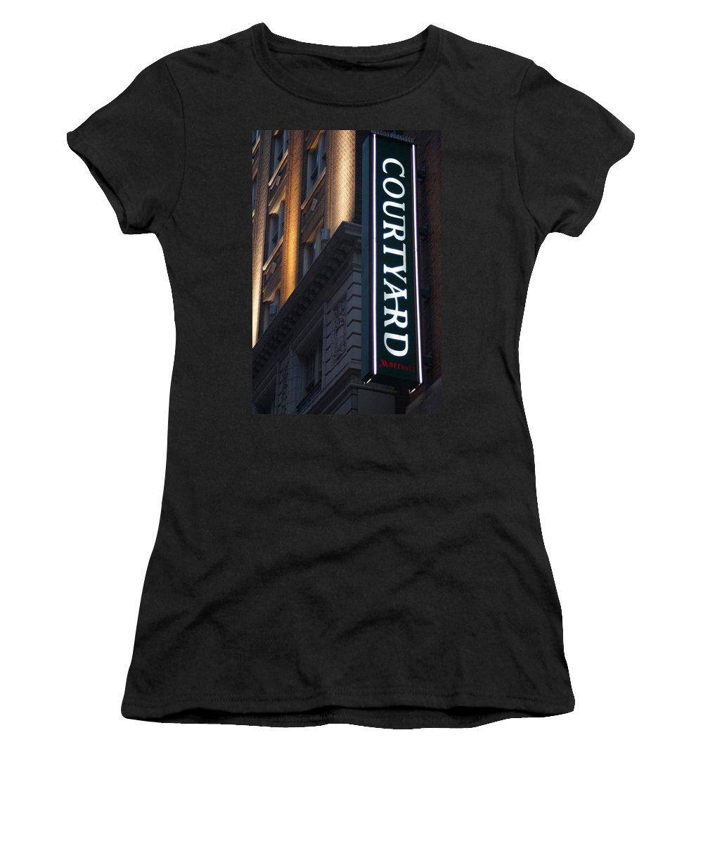 Courtyard Women's T-Shirt featuring the photograph The Courtyard by John Wall
