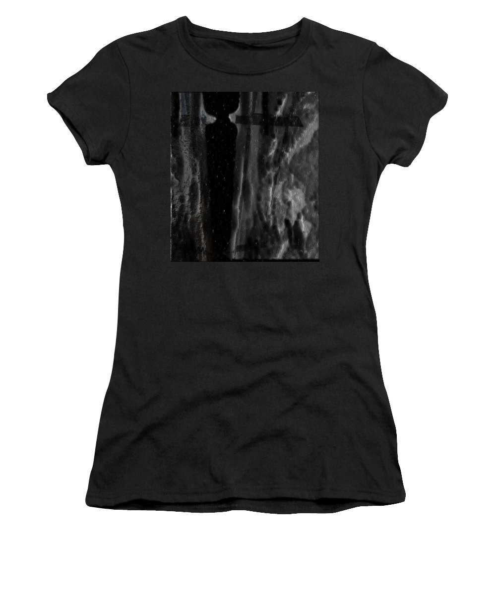 Crevice Women's T-Shirt featuring the digital art The Crevice by Michael Hurwitz