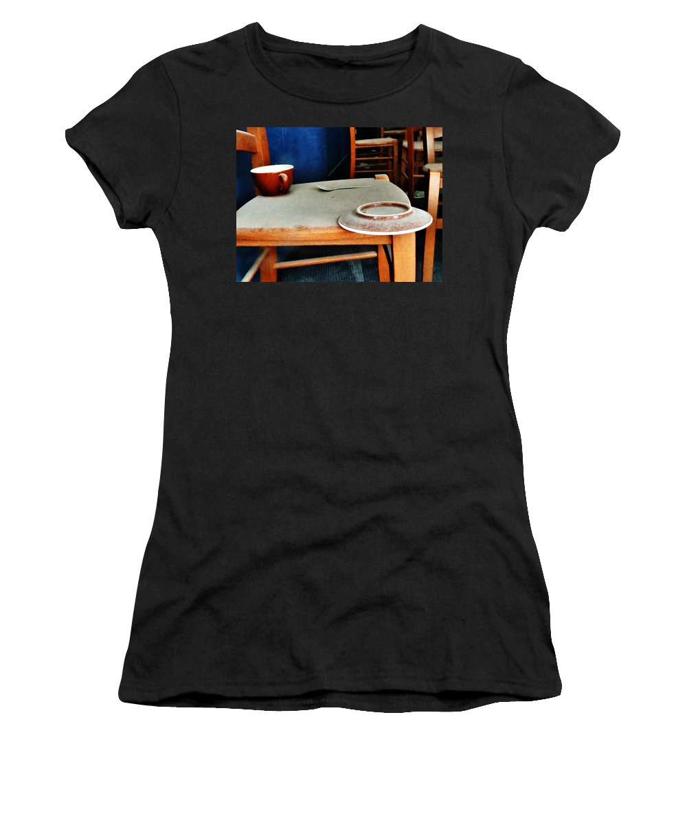 Snapshot Women's T-Shirt featuring the digital art The Cup Saucer And Spoon by Steve Taylor