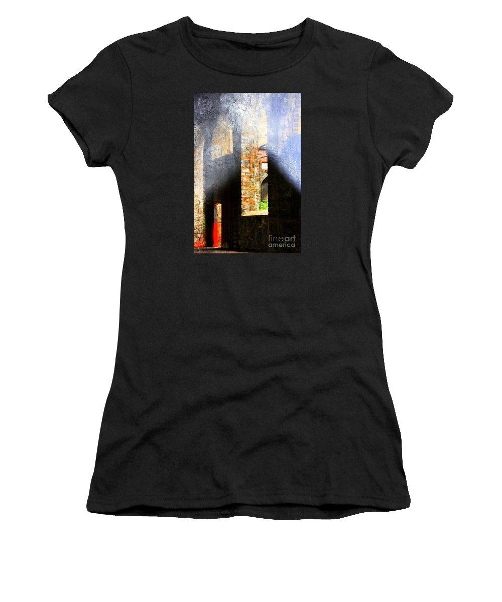 Marcia Lee Jones Women's T-Shirt featuring the photograph Death Of The Steel Industry by Marcia Lee Jones