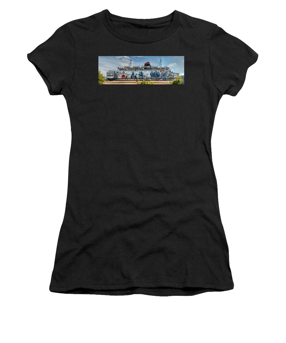 Duke Of Lancaster Women's T-Shirt (Athletic Fit) featuring the photograph The Duke Of Graffiti by Adrian Evans