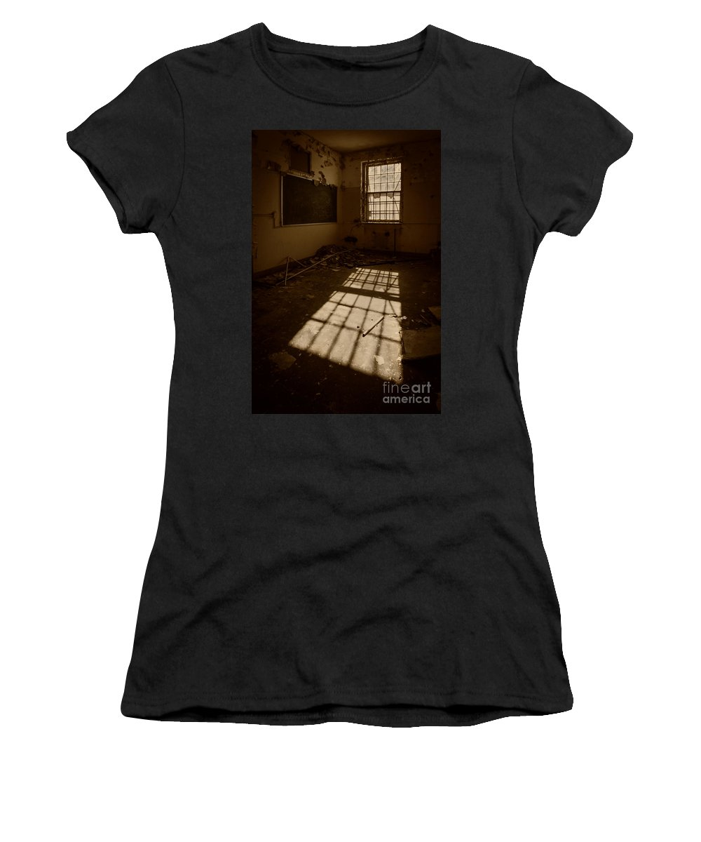 Urbex Women's T-Shirt (Athletic Fit) featuring the photograph The Echo Of Emptiness by Evelina Kremsdorf