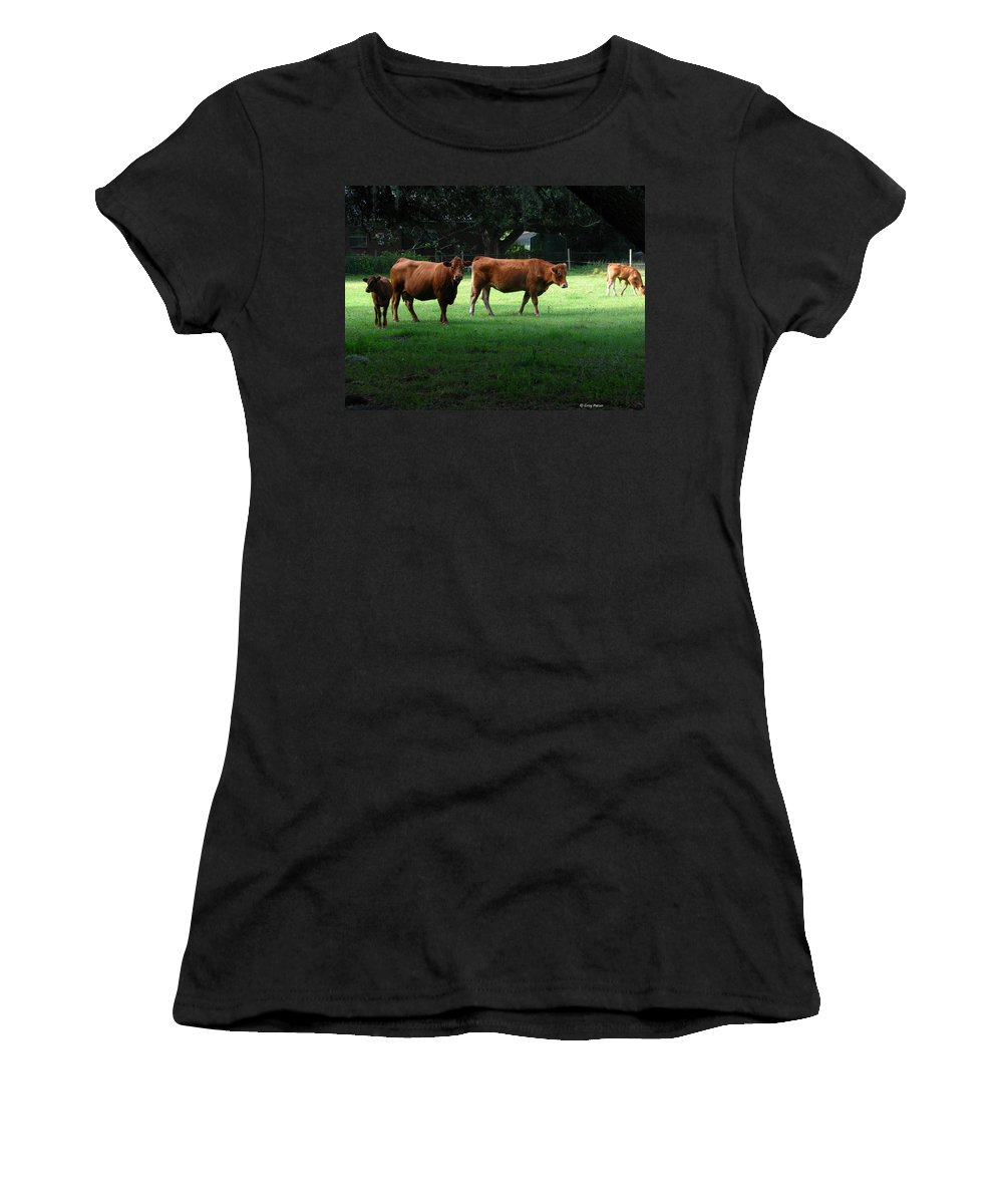 Patzer Women's T-Shirt (Athletic Fit) featuring the photograph The Farm by Greg Patzer