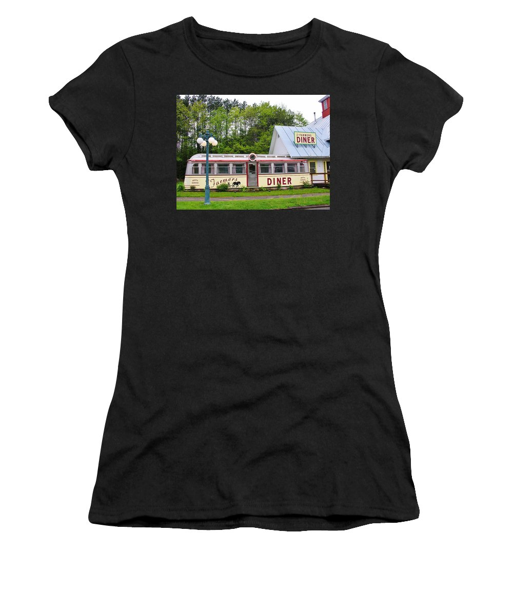 Farmers Diner Women's T-Shirt (Athletic Fit) featuring the photograph The Farmers Diner In Color by Sherman Perry