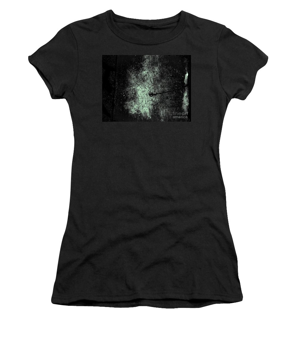 Abstract Women's T-Shirt featuring the photograph The Galaxy B W by Fei A