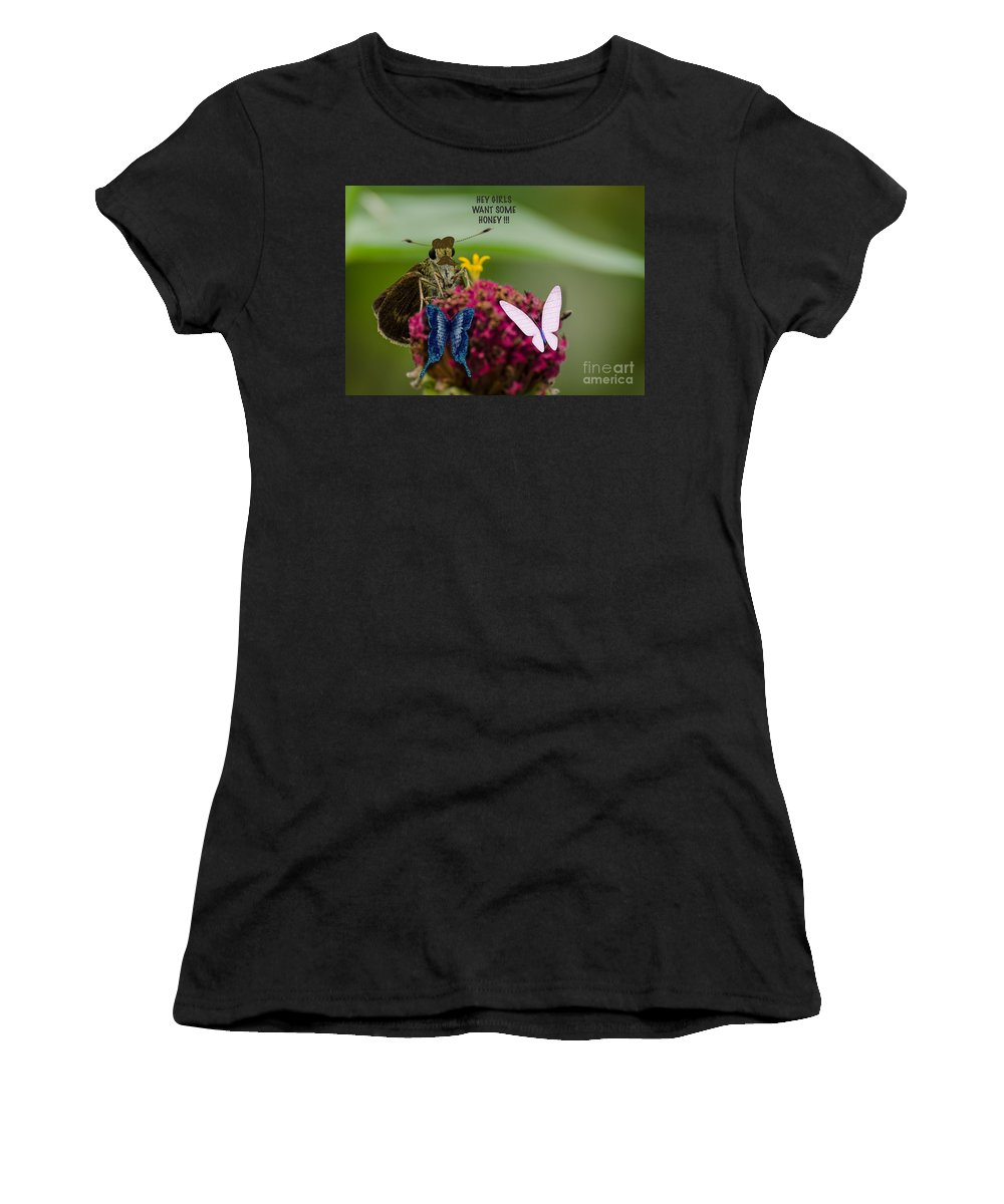 Digital Women's T-Shirt (Athletic Fit) featuring the photograph The Gentleman by Donna Brown