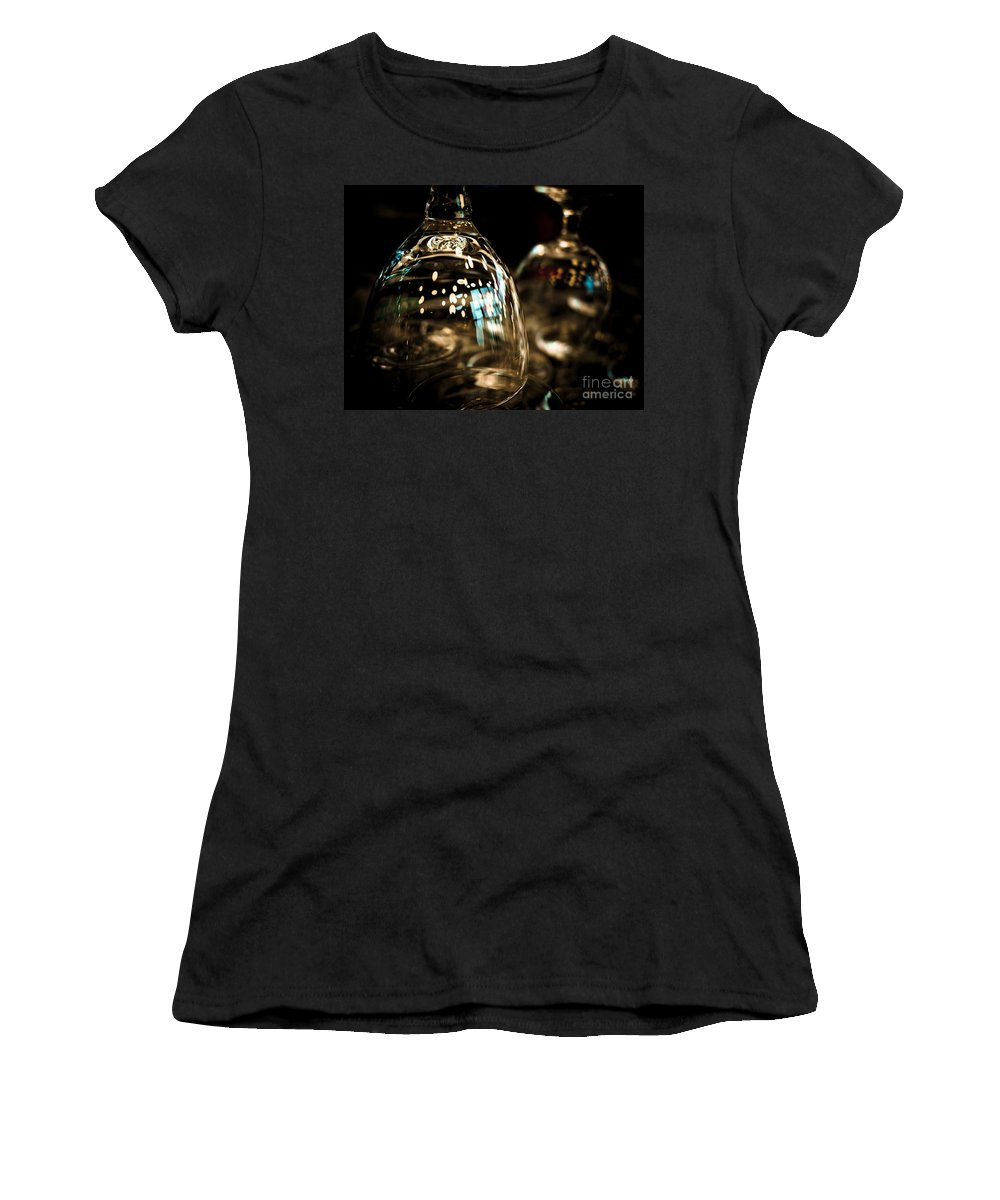 Bar Women's T-Shirt featuring the photograph The Glass Isn't Even Half Full.... by Brothers Beerens