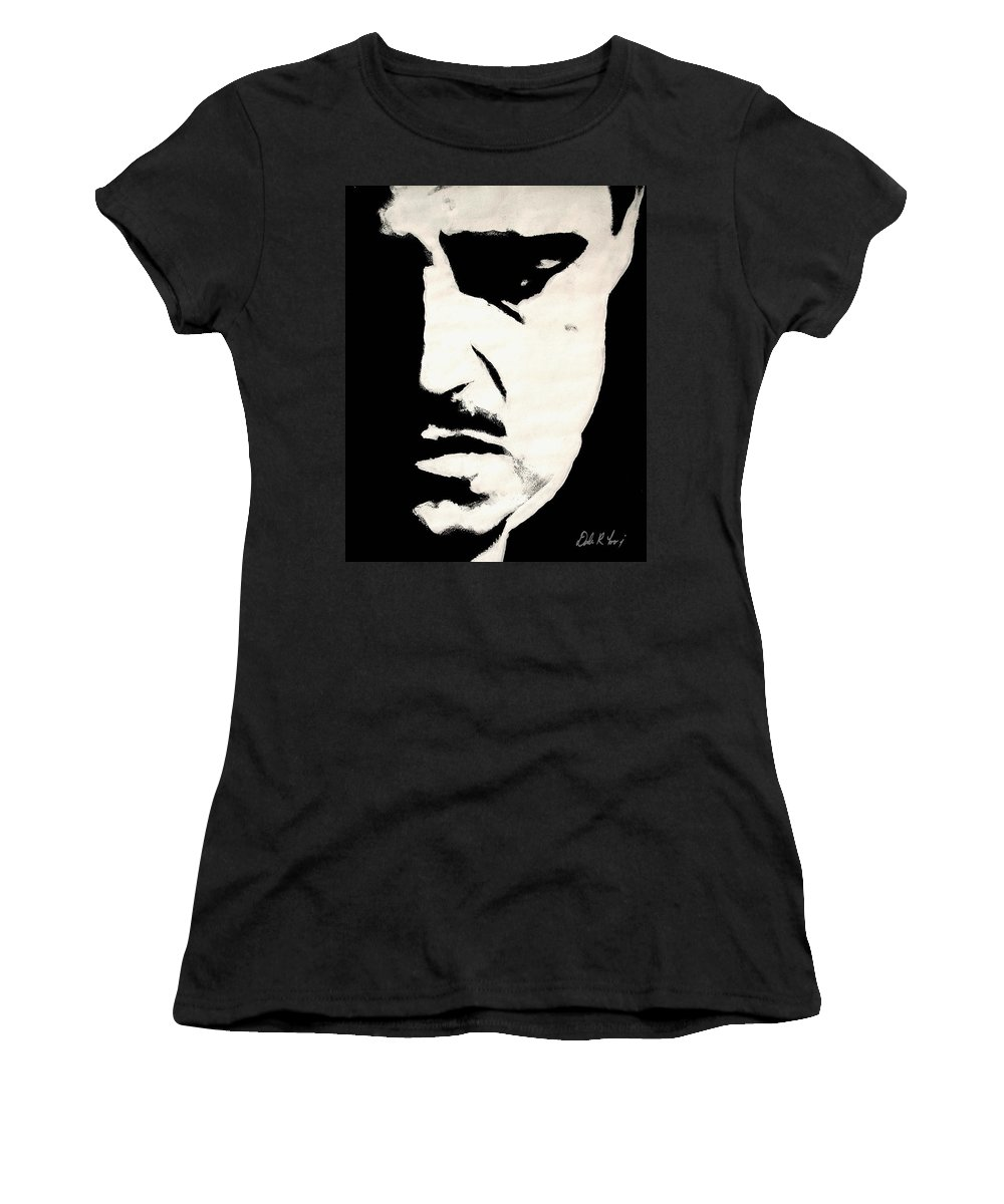 Godfather Women's T-Shirt (Athletic Fit) featuring the painting The Godfather by Dale Loos Jr
