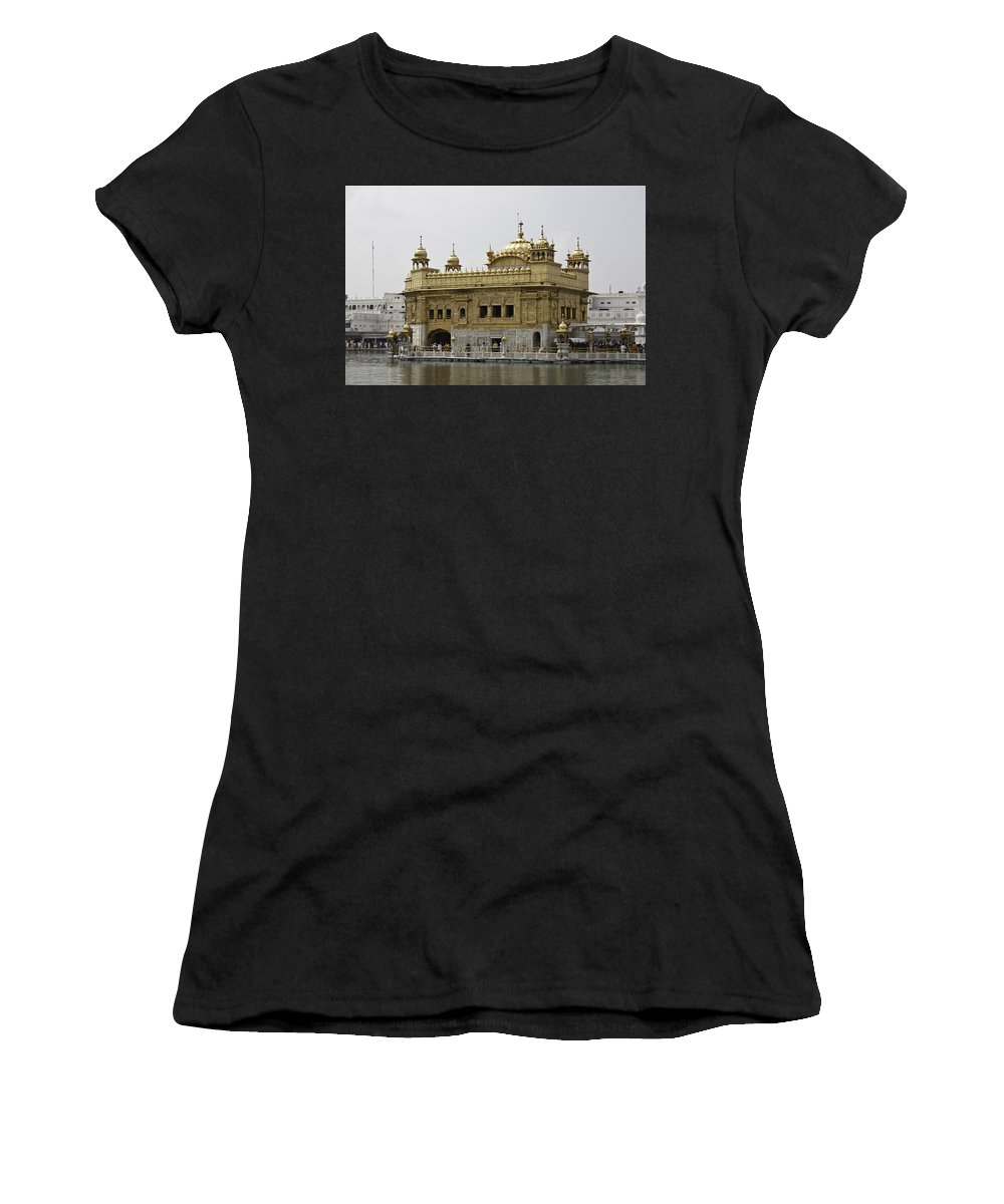 Amrit Sarovar Women's T-Shirt featuring the photograph The Golden Temple In Amritsar by Ashish Agarwal