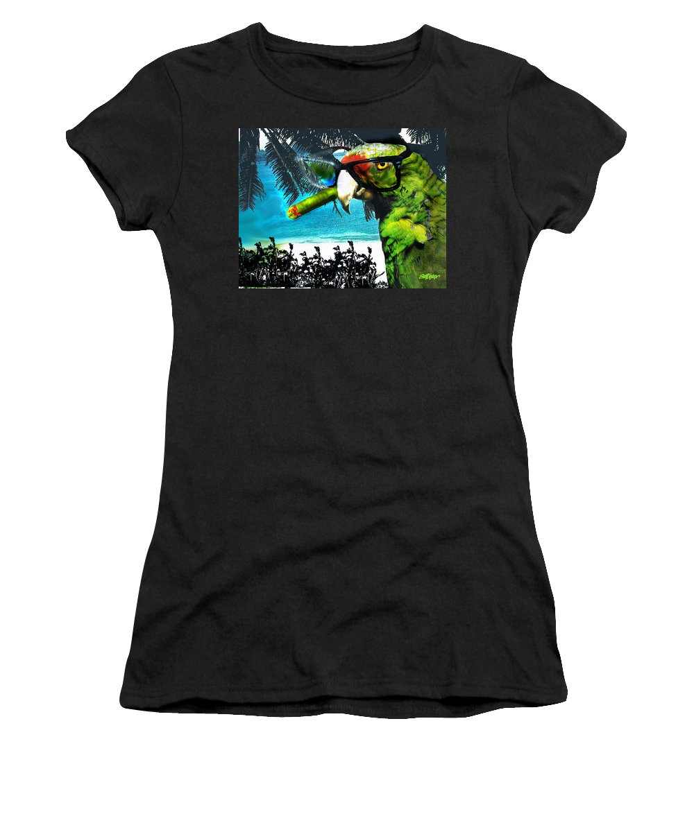 The Great Bird Of Casablanca Women's T-Shirt (Athletic Fit) featuring the digital art The Great Bird Of Casablanca by Seth Weaver
