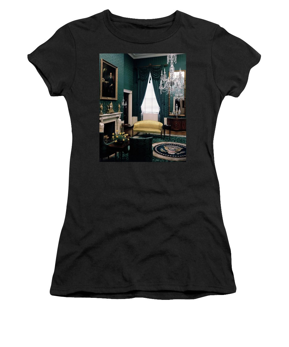 White House Women's T-Shirt featuring the photograph The Green Room In The White House by Haanel Cassidy