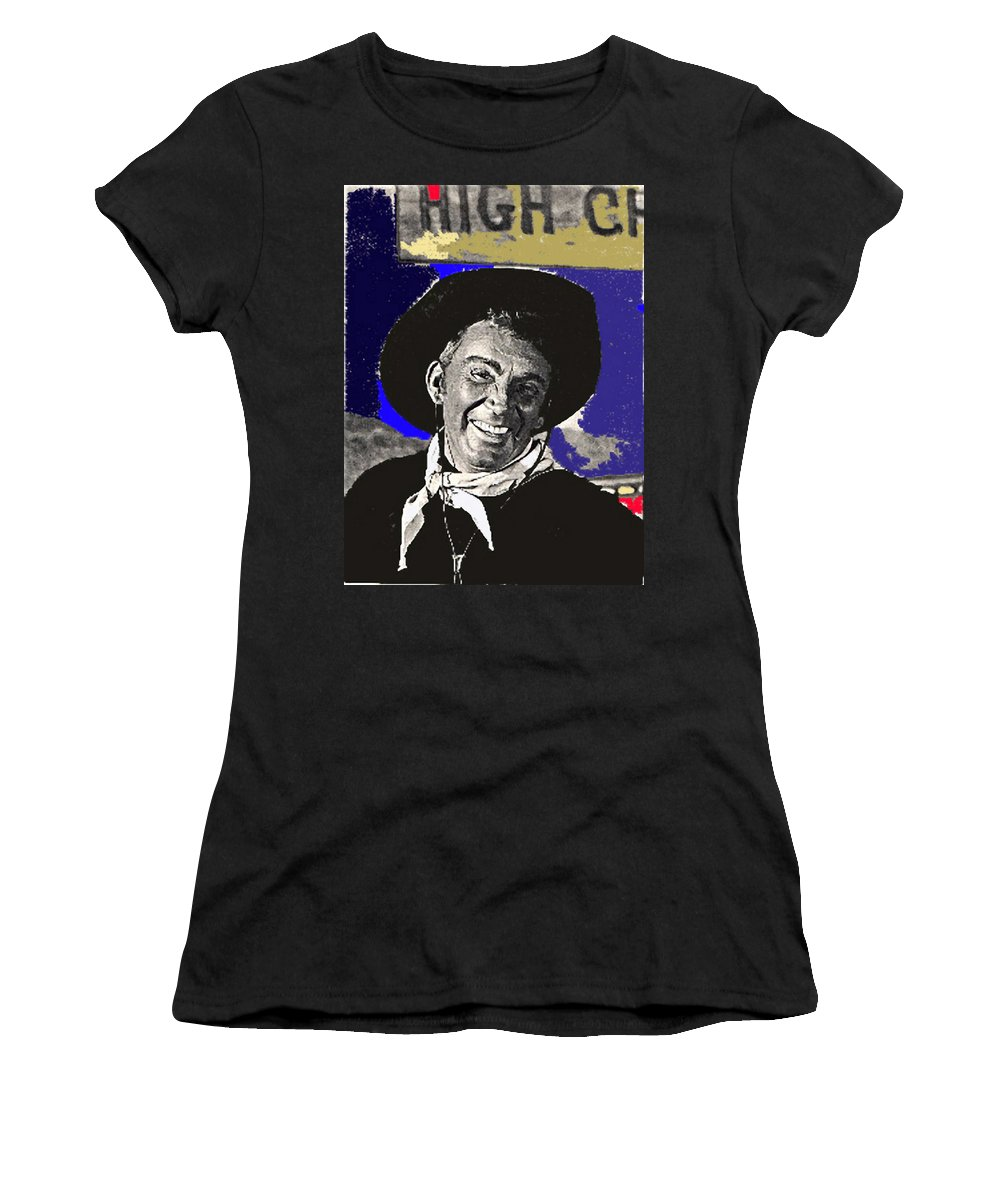 The High Chaparral Cameron Mitchell Publicity Photo Number 1 Color Added Women's T-Shirt (Athletic Fit) featuring the photograph The High Chaparral Cameron Mitchell Publicity Photo Number 1 by David Lee Guss