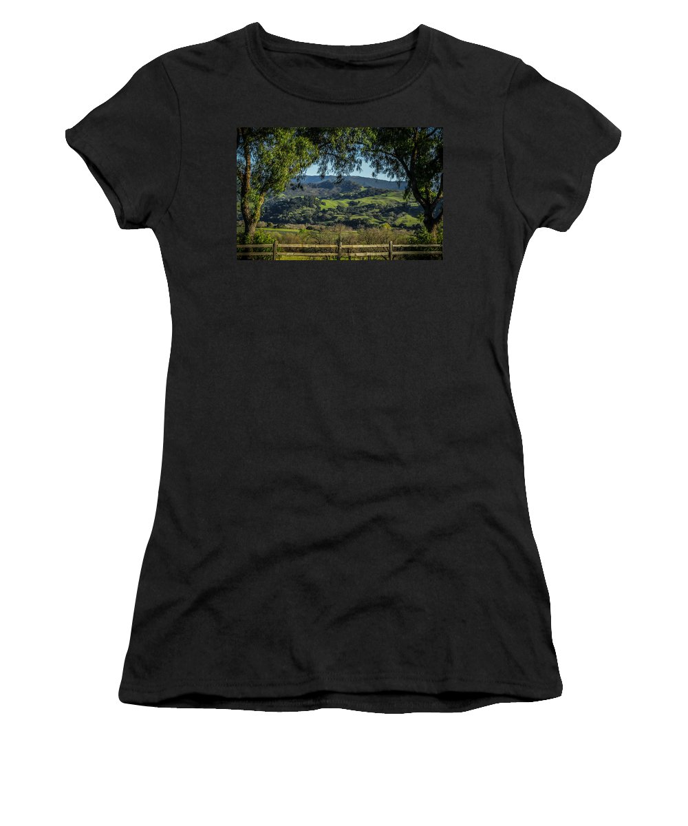 Hills Women's T-Shirt (Athletic Fit) featuring the photograph The Hills by Ernie Echols