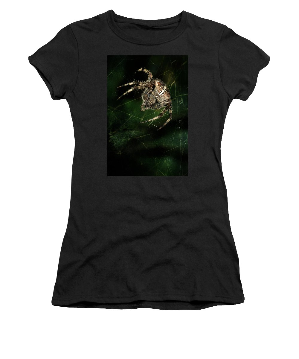 Spider Women's T-Shirt (Athletic Fit) featuring the photograph The Hunter by Jaroslaw Blaminsky